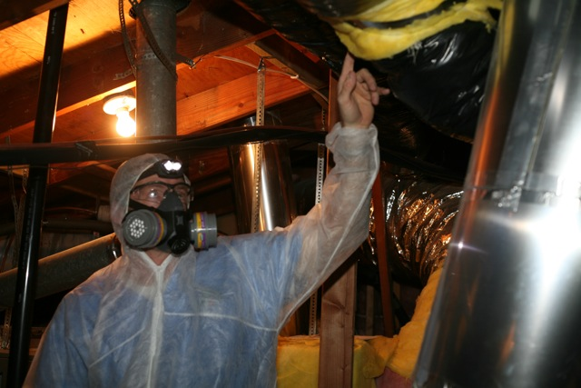 Inspecting a crawl space