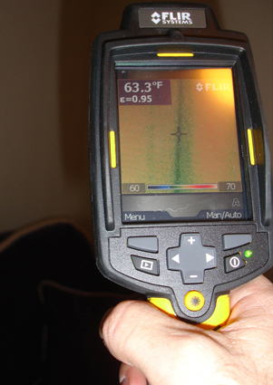 A handheld infrared camera, used to find leaks you may not even know about!