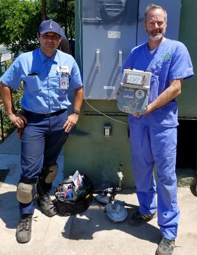 We removed the gas meter from this project on July 25, 2017. Talk about efficiency!