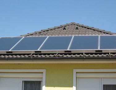 Photovoltaic (PV) panels installed on a customers house.